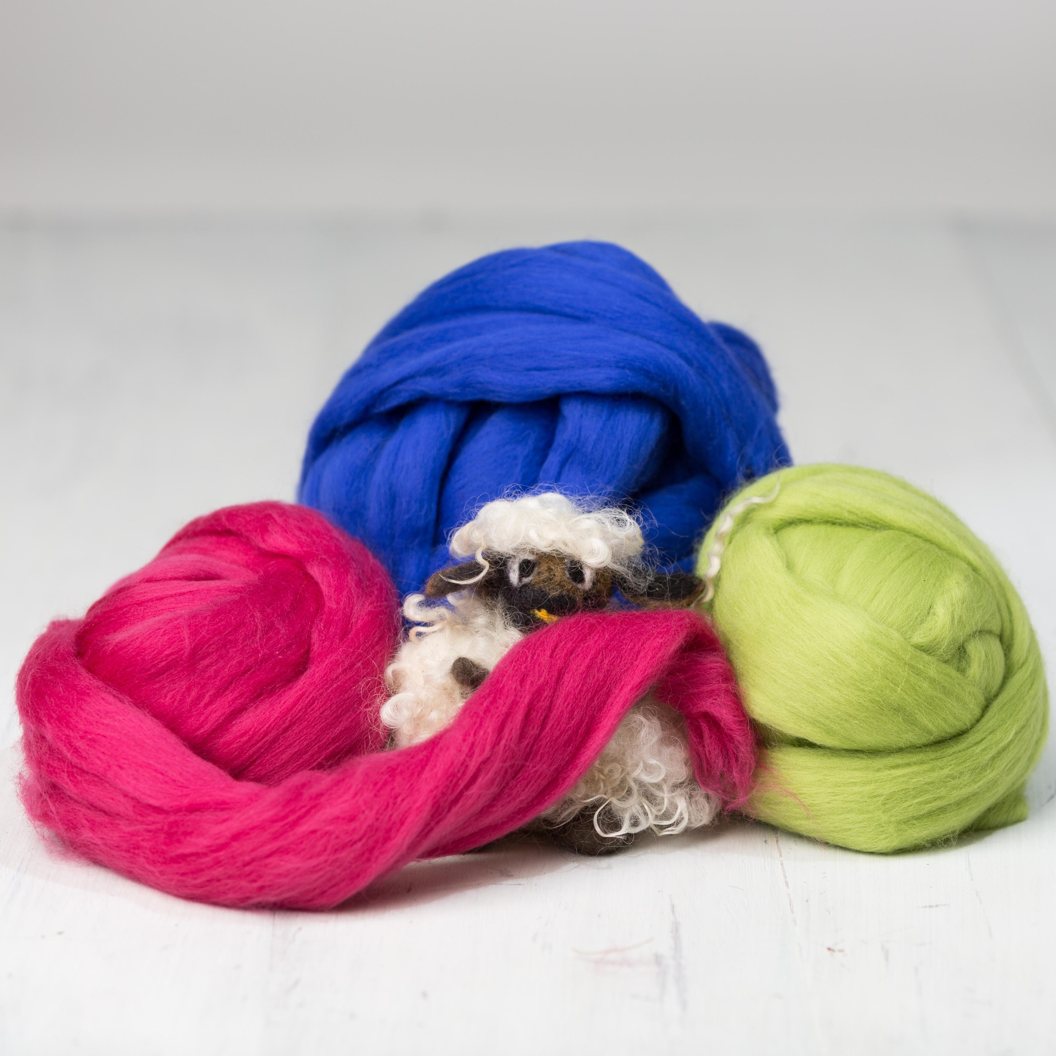 CraftN'Joy extra fine merino wool tops - Color BEAVER