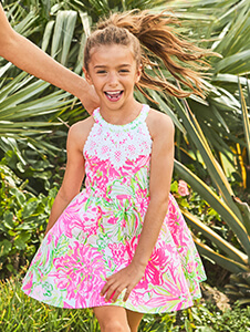 45f7ec76a37 Lilly Pulitzer Girls Camryn Romper Multi Via Flora – Pink Colony